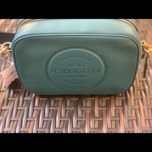 COACH Dempsey Camera Bag with patch (TEAL)